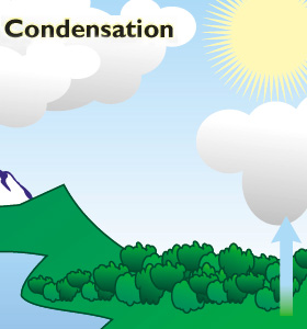 Image result for WATER CYCLE WITH CONDENSATION